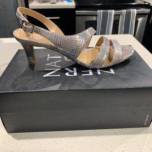Naturalizer Taimi Silver Snake Heels -Sz 10M